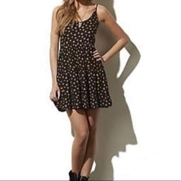 Adam Levine Tiered Floral Mini Hobo Sun Dress